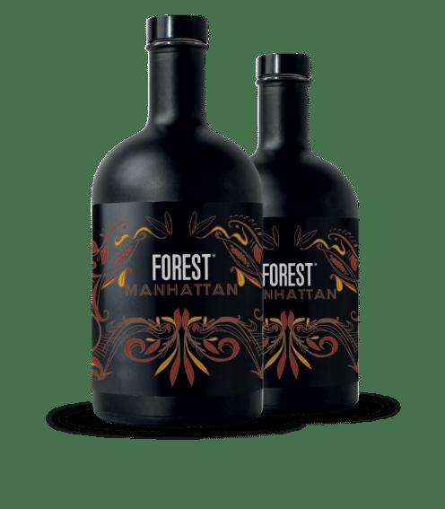 2 Forest Gin bottles